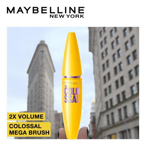 Maybelline New York Volum' Express Colossal Mascara - Washable, Glam Black, 10.7 g