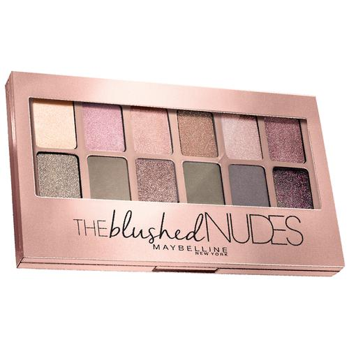 Maybelline New York The Blushed Nudes Eye Shadow Palette, 9 g