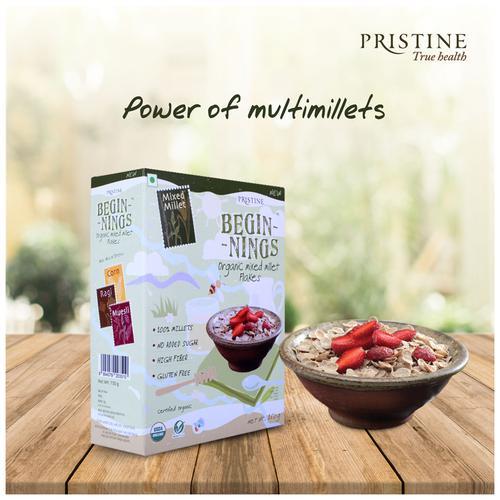 PRISTINE Beginnings - Organic Mixed Millet Flakes, 150 g
