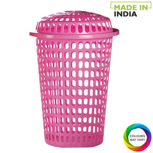 Buy Aristo Commander Plastic Laundry Basket - Assorted Colour Online at  Best Price - Laundry Basket