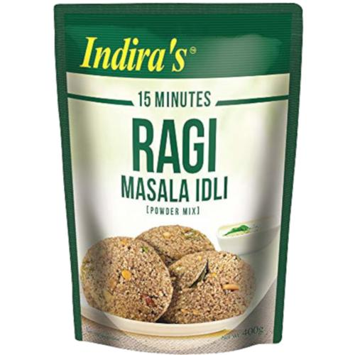 Indira's Ragi Masala Idli, 400 g Pouch