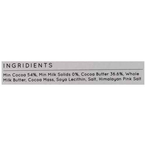 Uns Dark Chocolate - Himalayan Pink Salt, 100 g