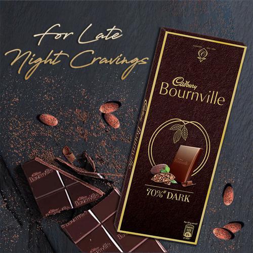 Cadbury Bournville Rich Cocoa 70% Dark Chocolate Bar, 80 g
