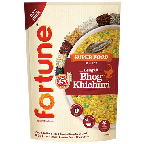 Fortune  Superfood Millet - Bengali Bhog Khichdi, 200 g Pouch