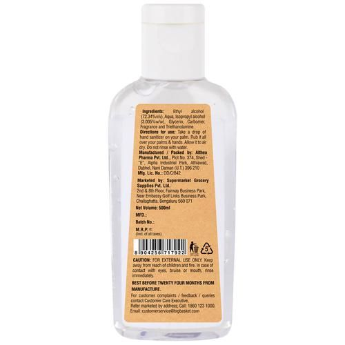BB Home 72% Alcohol Based Hand sanitizer, 500 ml (Buy 1 Get 1 Free)