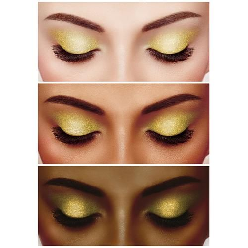 Biotique Natural Makeup Diva Glimmer Sparkling Eyeshadow - Gold Rush, 1.5 g