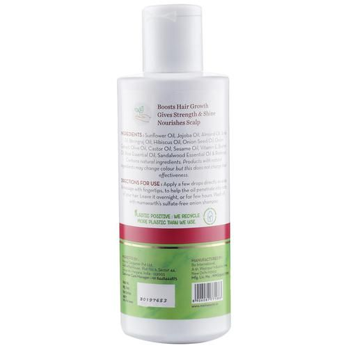 Mamaearth Onion Hair Oil For Regrowth & Hair Fall Control With Redensyl, 150 ml