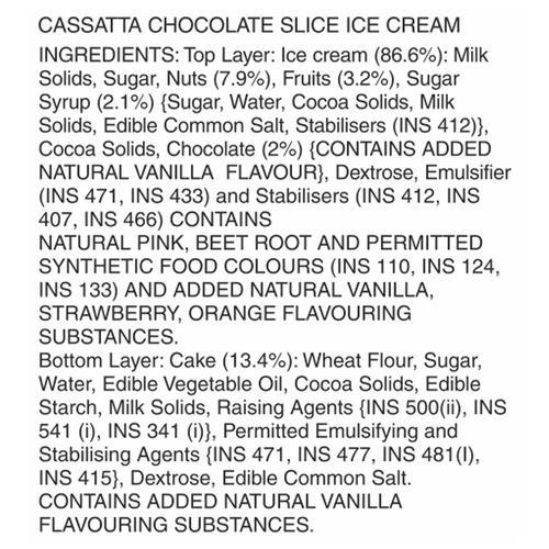 Vadilal Chocolate Slice Cassata, 120 ml