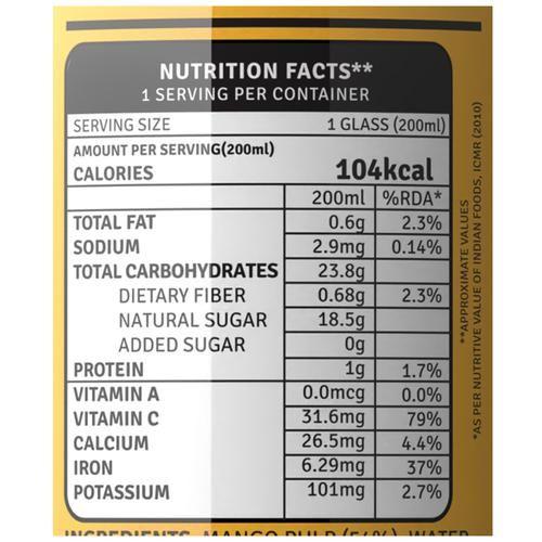 Raw Pressery Cold Extracted Juice - Mango, 200 ml