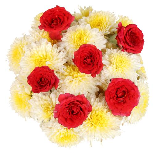 Hoovu Fresh Assorted Puja Flowers, 100 g