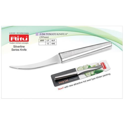 Ritu Stainless Steel Tomato Knife - 8 Inch, Silver, 1 pc