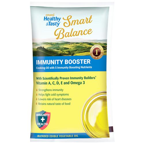 Emami Healthy & Tasty SmartBalance Oil With Immunity Boosters, 1 L Pouch