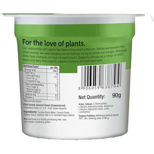 Epigamia  Plant Based Coconut Blend, Unsweetened, 90 g