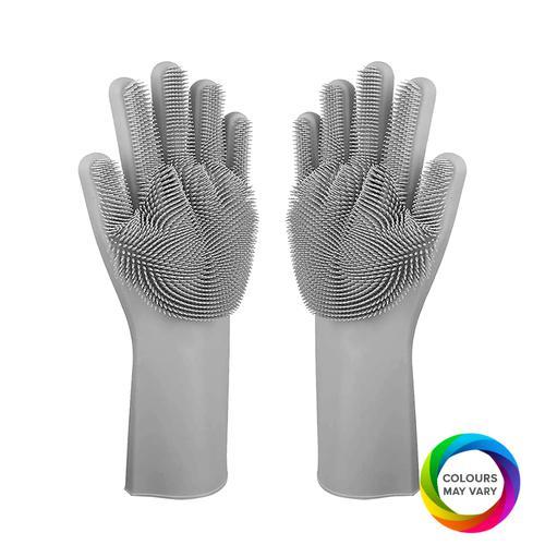 BVC Silicon Gloves - Assorted Colour, 2 pcs