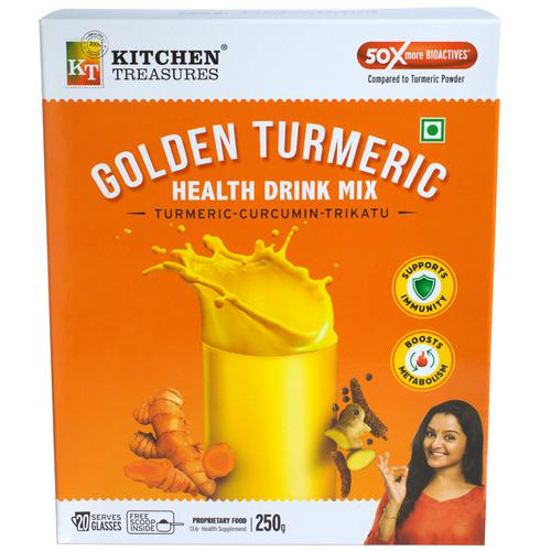 Kitchen Treasures Golden Turmeric Health Drink Mix, 250 g Duplex Box