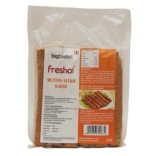 Fresho Mutton Seekh Kabab Regular, 500 g