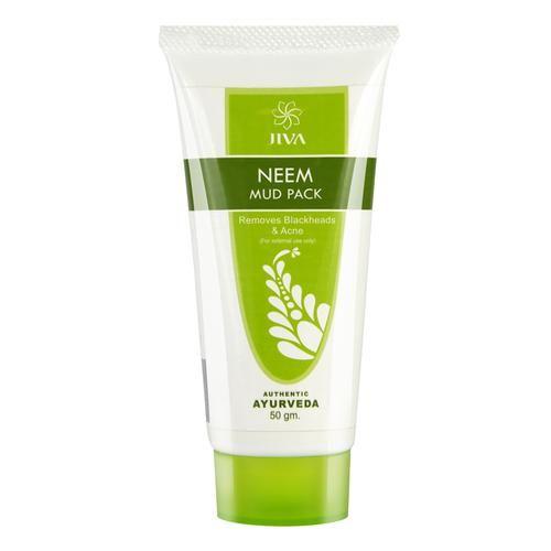 Jiva Ayurveda Neem Mud Pack - Nourishing Pack, For Improving Skin Texture, 50 g