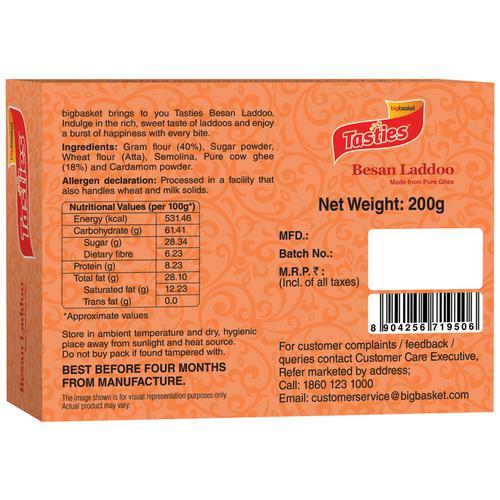 Tasties Tasties Besan Laddoo, 200 g