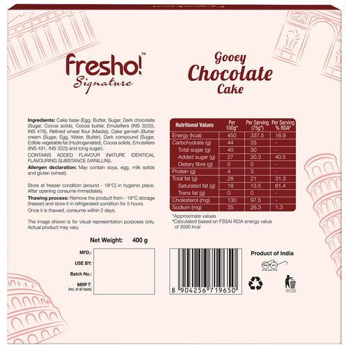 Fresho Signature Gooey Chocolate Cake, 400 g