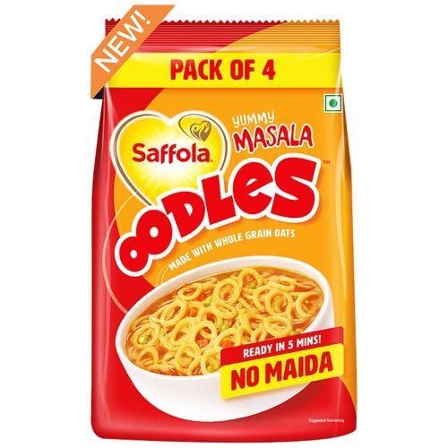 Saffola Oodles Ring Noodles - Yummy Masala, No Maida, Ready In 5 Mins, 184 g
