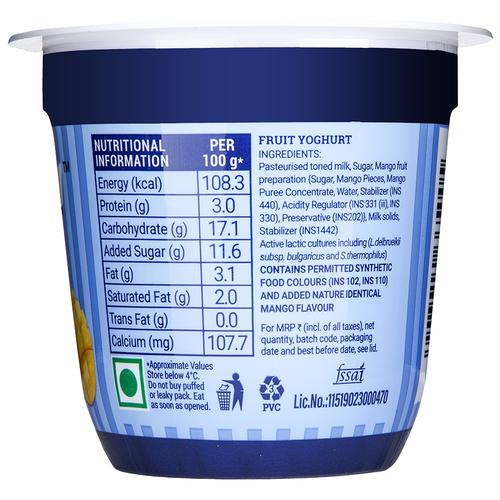 Mamie Yova French Yogurt - Mango, 90 g Cup