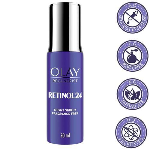 Olay Regenerist Retinol 24 Night Serum - With Niacinamide, Improves Fine Lines, Wrinkles, 30 ml