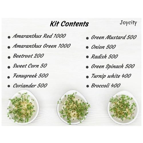 Joycity Microgreens Combo - 12 Varieties, 6100+ Seeds