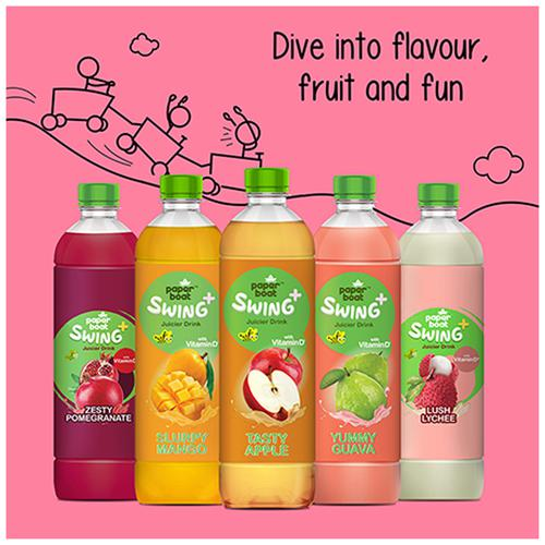 Paperboat Swing Mixed Fruit Medley Juice - Enriched With Vitamin D, No GMOs, 600 ml