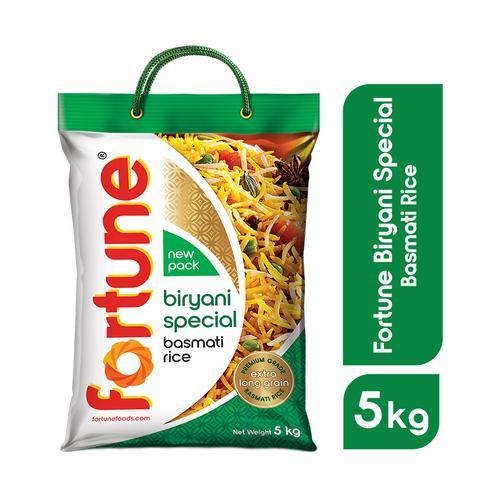 Fortune  Basmati Rice/Basmati Akki - Biryani Special, 5 kg Pouch