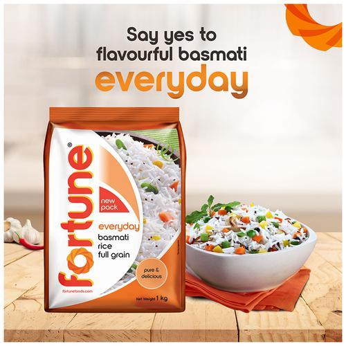 Fortune  Everyday Basmati Rice/Basmati Akki, 1 kg Pouch