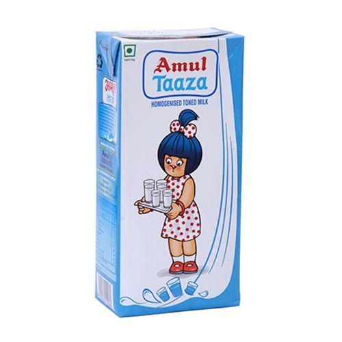 Amul Fresh Toned Milk, 200 ml Carton