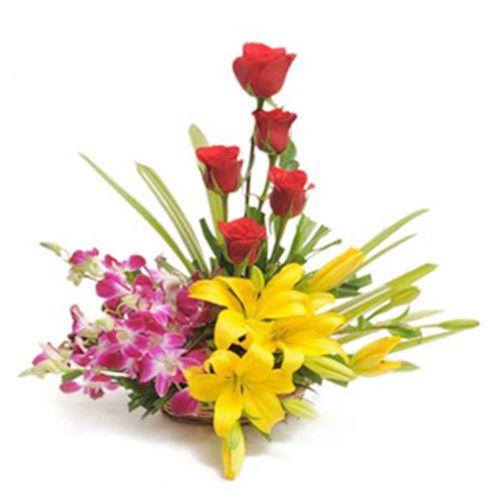 FERNS N PETALS Flower Bouquet - Sweet Splendor, 400 g