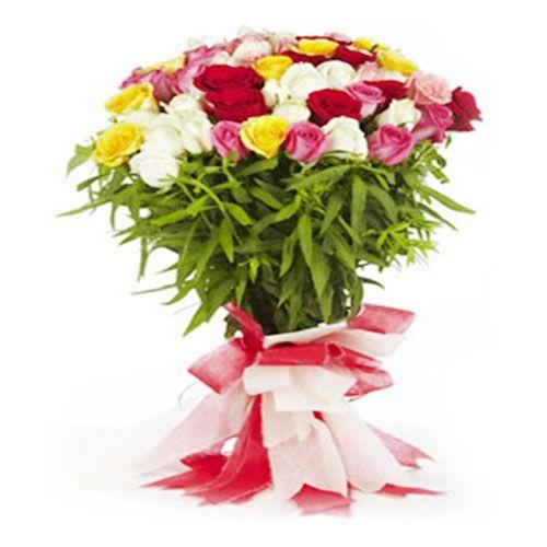 FERNS N PETALS Flower Bouquet - With Love, 400 g