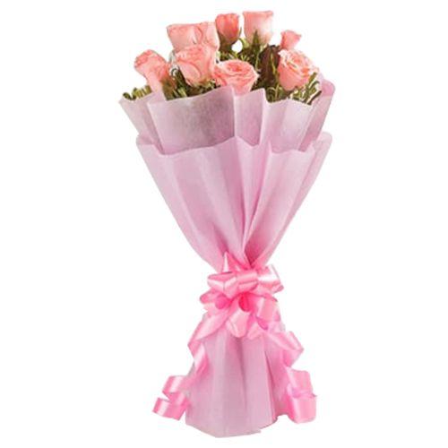 Ferns N Petals Pvt Ltd Flower Bouquet - Pink In Vogue Standard, 400 g