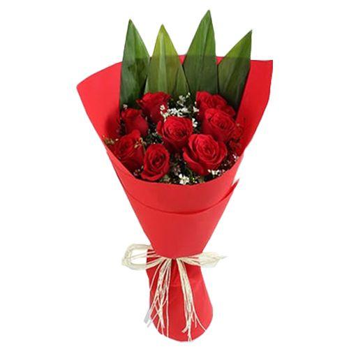 Ferns N Petals Pvt Ltd Flower Bouquet - Enchanting Red Rose Bunch, 400 g