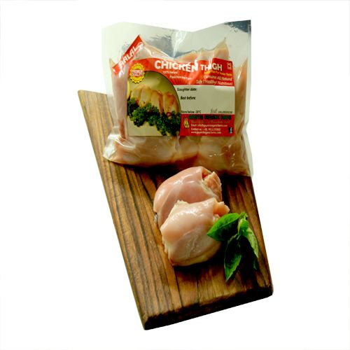 Gaytri Organic Farms Chicken - Thigh, With Bone (Near Organic & Natural),  Halal Cut, 1 kg