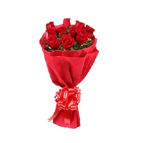 FERNS N PETALS Flower Bouquet - Red stands for love, 1 pc