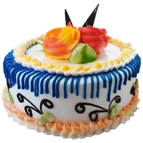 Kesar Sweets (GBM) Fresh Cake - Vanilla Cake, Eggless, 500 g
