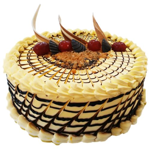 Kesar Sweets (GBM) Fresh Cake - Butterscotch, Eggless, 500 g