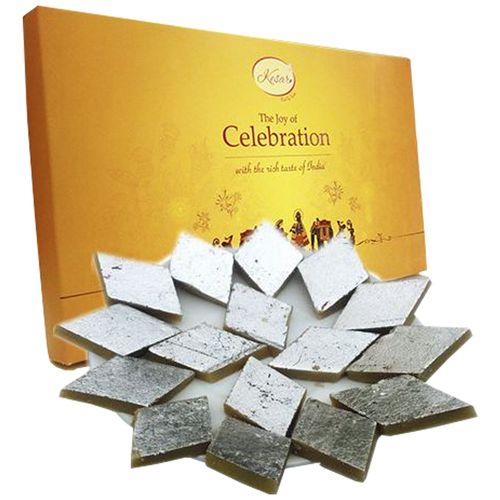 Kesar Sweets (GBM) Sweets - Celebrations Kaju Katli Fancy Box, 1 kg