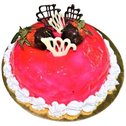 Ibbani Fresh Cake - Strawberry, Eggless, 500 g