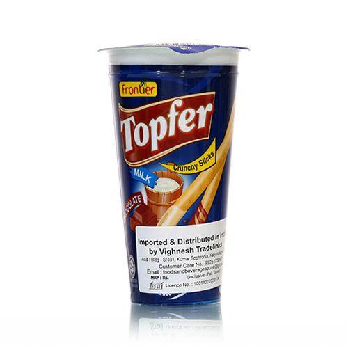 Buy Frontier Topfer Crunchy Sticks - Milk 40 gm Online at Best Price.