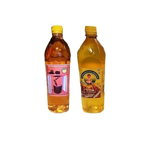 Chakravarthi Sweets and Snacks Oil - Cold Pressed Ground Oil and Gingelly(Sesame) Oil (each 1 ltr), 2 L Pet Bottle