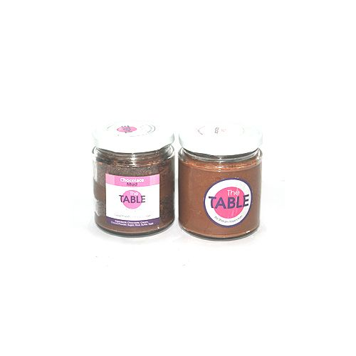 The Table Cake - Chocolate Mud & Sin Azucar  Combo, 300 g Pack of 2 Jars