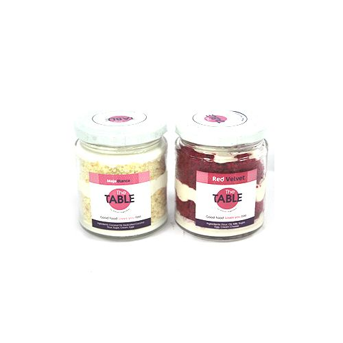 The Table Cake - Maja Blanca & Red Velvet   Combo, 300 g Pack of 2 Jars