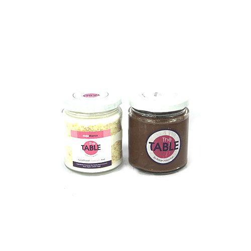 The Table Cake - Maja Blanca & Sin Azucar Combo, 300 g Pack of 2 Jars