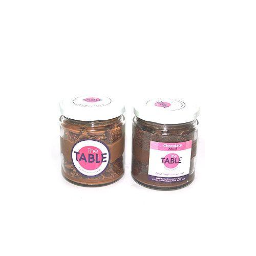 The Table Cake - Macaroon Jar & Chocolate Mud  Combo, 300 g Pack of 2 Jars
