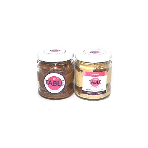 The Table Cake - Macaroon Jar & Tiramisu  Combo, 300 g Pack of 2 Jars