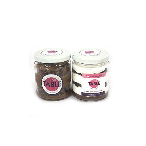 The Table Cake - Macaroon Jar & Oreo Chocolate Melt Combo, 300 g Pack of 2 Jars