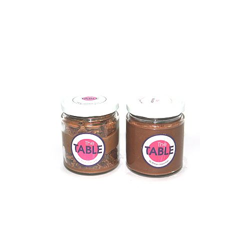 The Table Cake - Macaroon Jar & Sin Azucar  Combo, 300 g Pack of 2 Jars